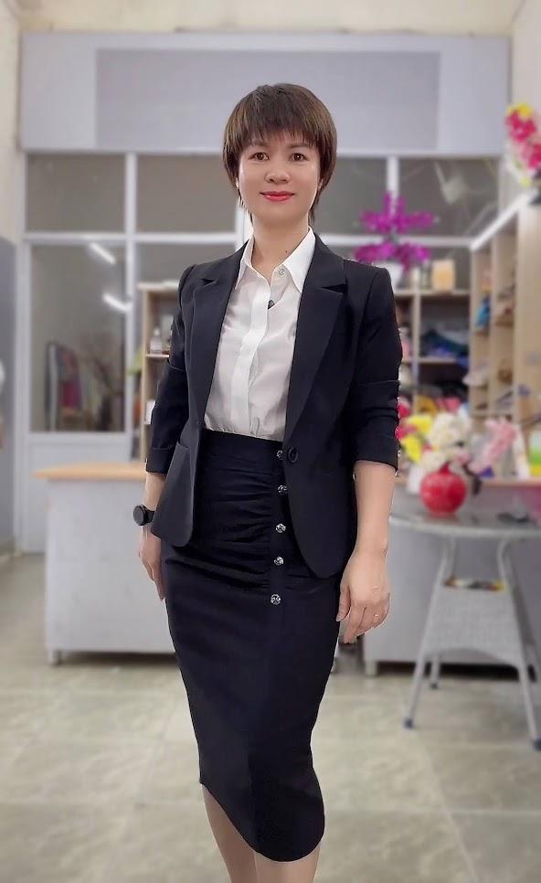 áo vest nữ 1 lớp chân váy bút chì công sở mặc đẹp thời trang thủy hải phòng
