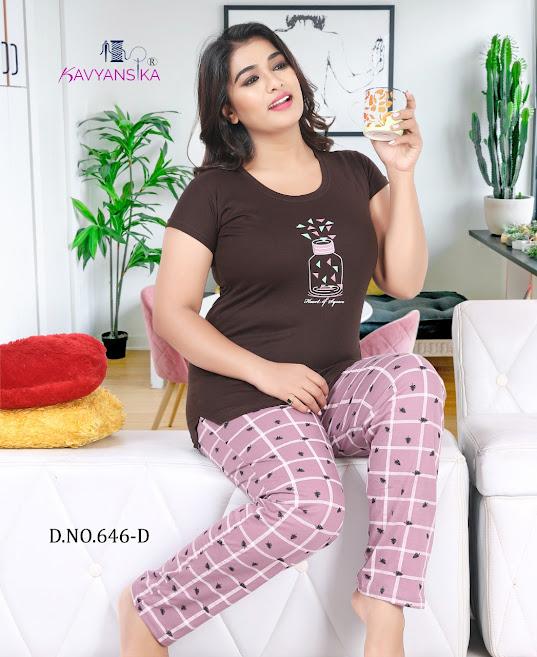 Kavyansika Vol 646 Women Night Suits Catalog Lowest Price