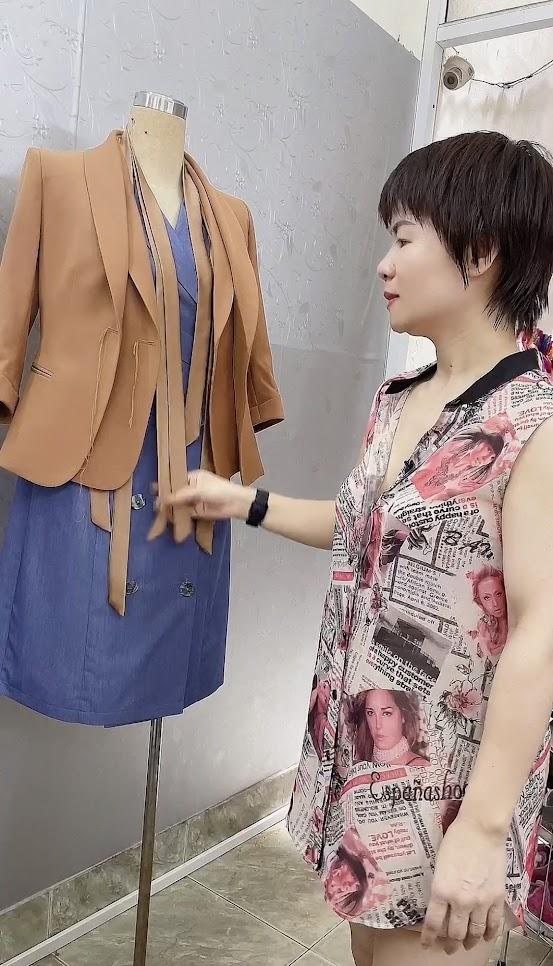 áo vest nữ công sở thời trang thủy thiết kế ở quảng ninh