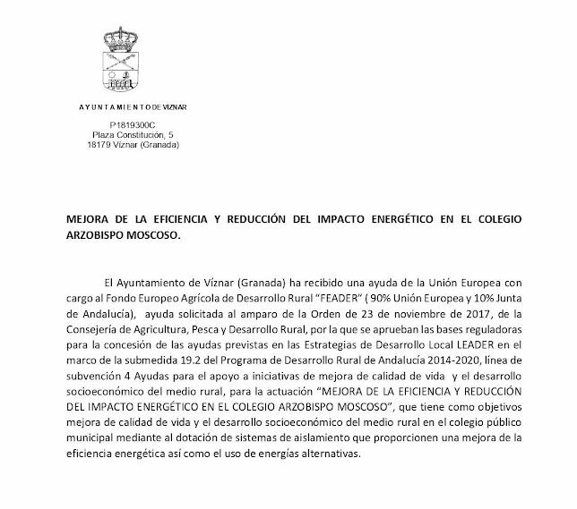 Mejora Colegio Viznar 2021