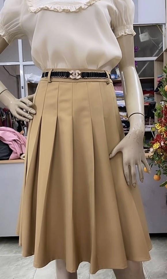 áo sơ mi nữ chân váy xòe công sở thời trang thủy sài gòn