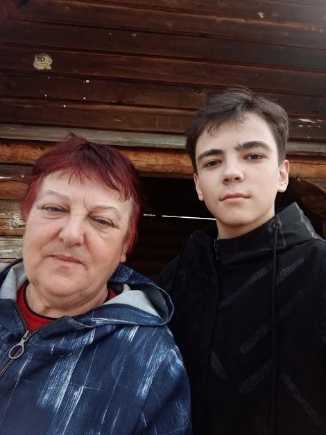 Галина Алексеевна Скрипаль с внуком Андреем