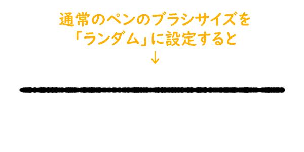 クリスタのランダム設定によるペンの変化