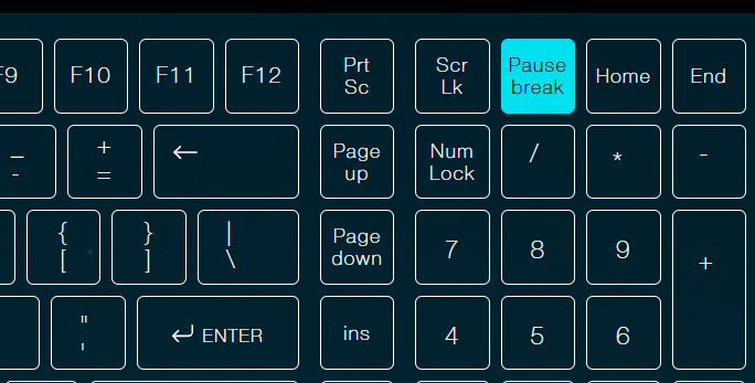 Check the windows version with pause break shortcut