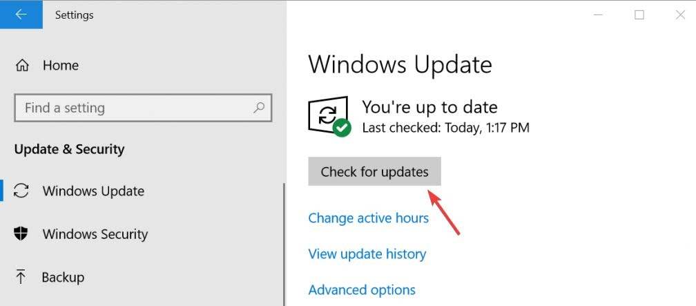 Click on the Check for updates button, Windows will start to search for the new updates.