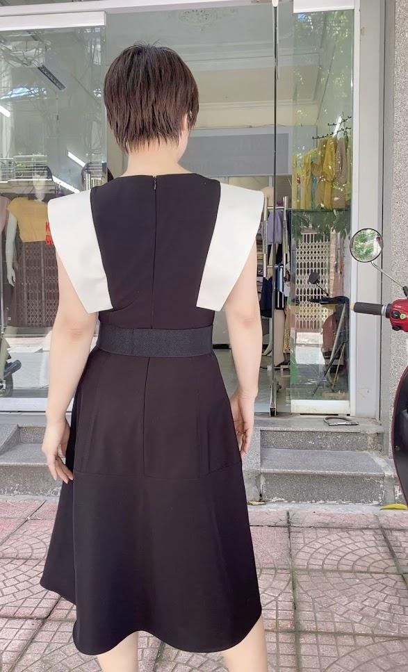 Váy xòe liền dáng midi công sở v770 thời trang thủy hải phòng 3