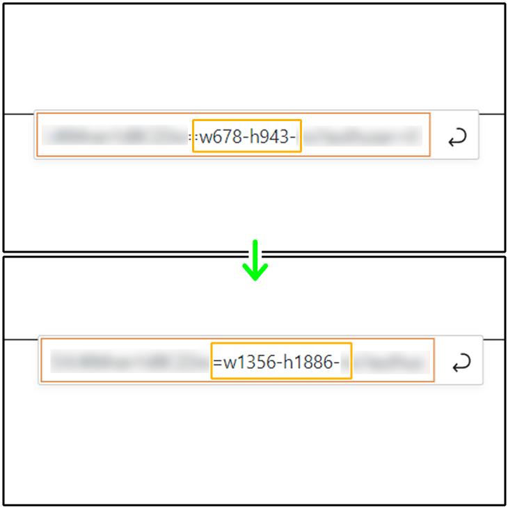 画像URLのサイズを変更