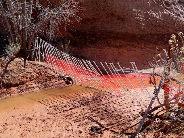 Fence across the creek