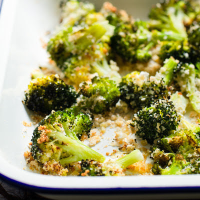 Roasted Broccoli with Garlic and Parmesan Cheese
