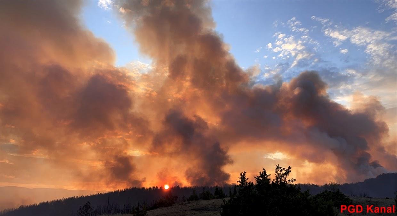PGD Kanal - Požar v naravi v Severni Makedoniji