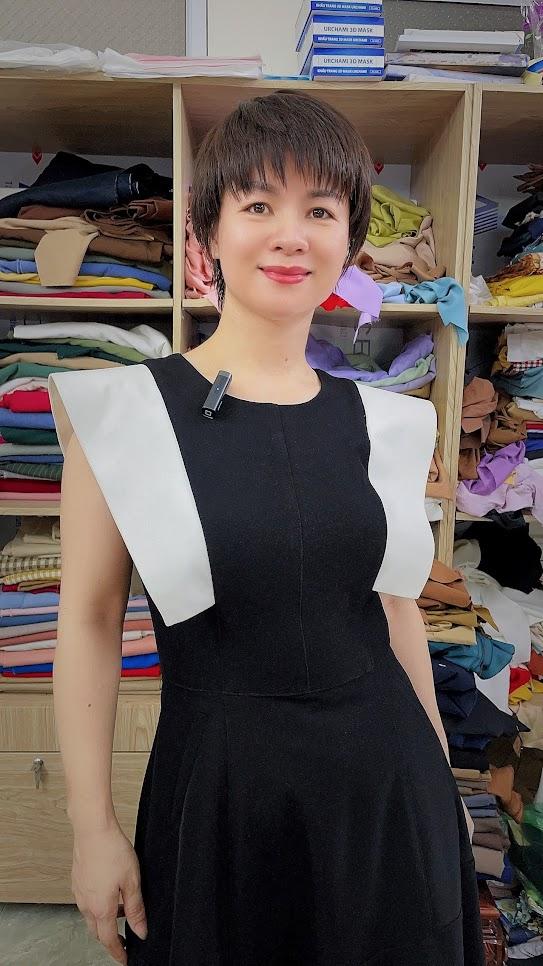 Váy xòe liền dáng midi công sở v770 thời trang thủy sài gòn