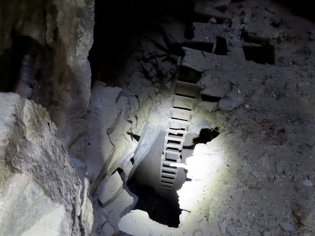 Ladder to lower level of the mine