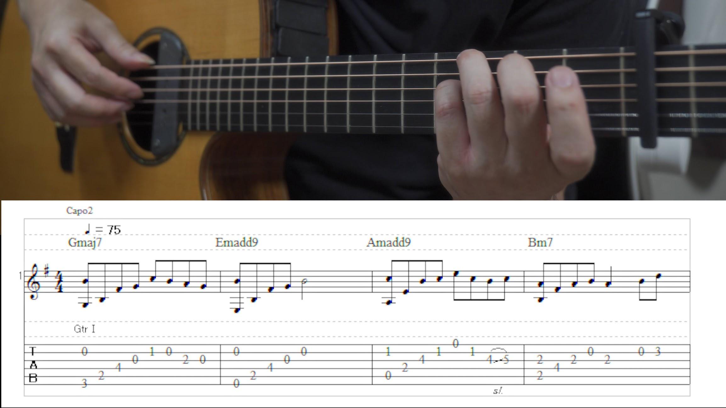 癒しのSolo Guitar「twilight venus」TAB譜付