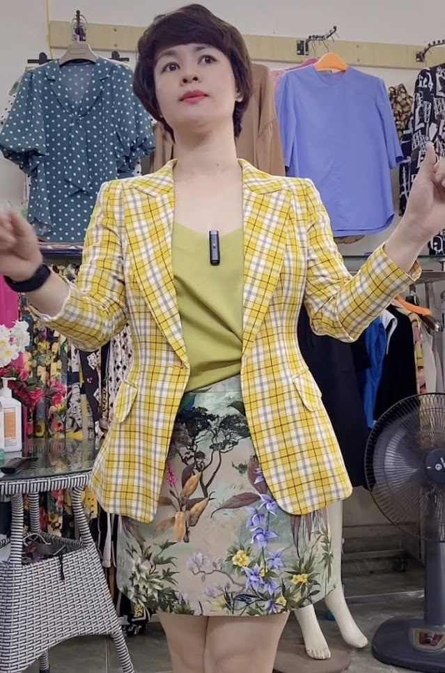 áo vest nữ công sở dáng eo phối đồ mặc đẹp thời trang thủy hà nội