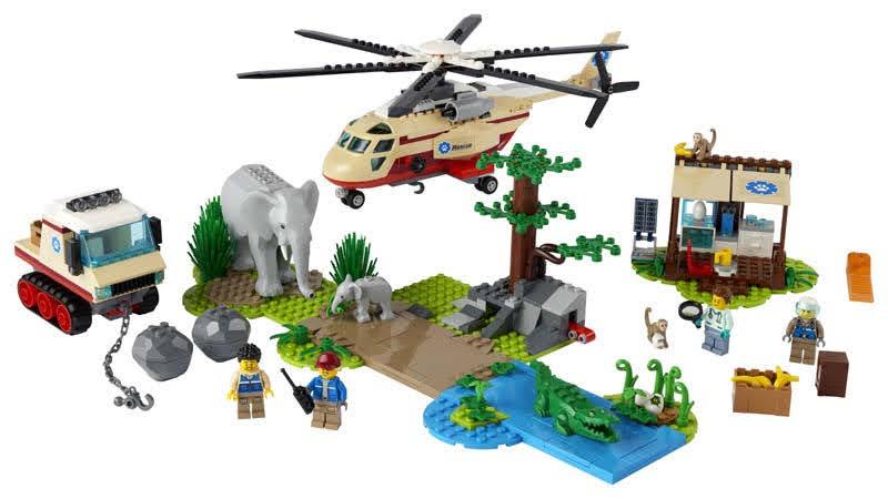 Contenido de LEGO® 60302 Rescate de la Fauna Salvaje: Operación