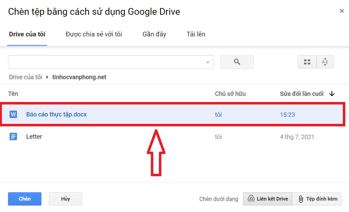 cách gửi tài liệu qua gmail