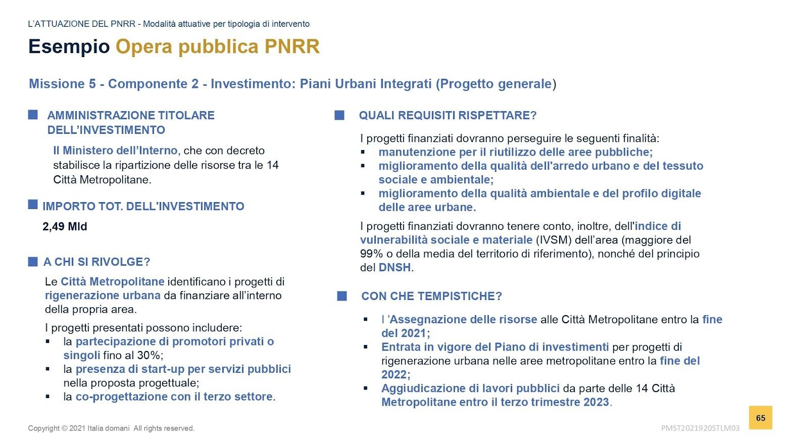 Rigenerazione urbana PNRR - slide MEF