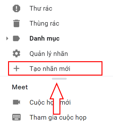 hướng dẫn tạo thư mục trong gmail