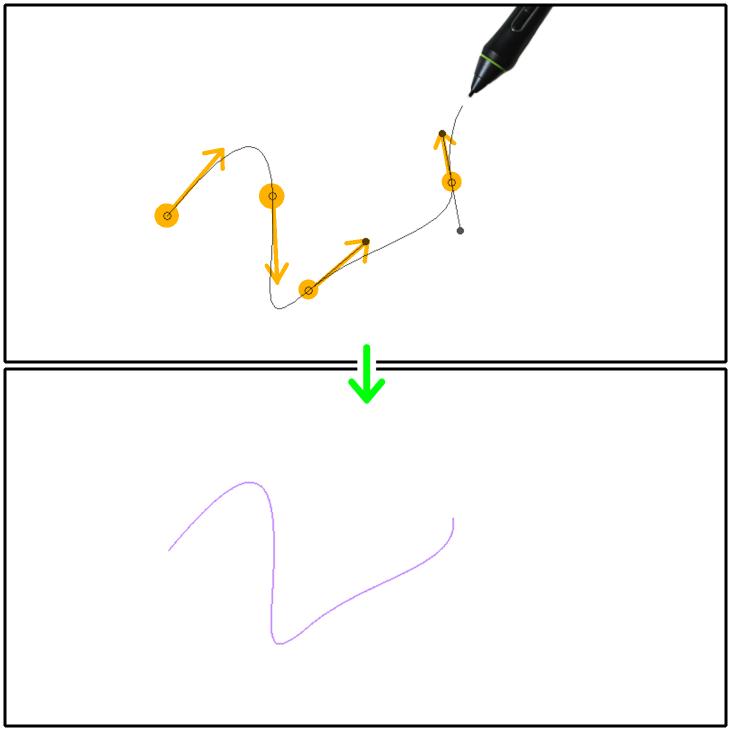クリスタ曲線定規(3次ベジェ)の設置