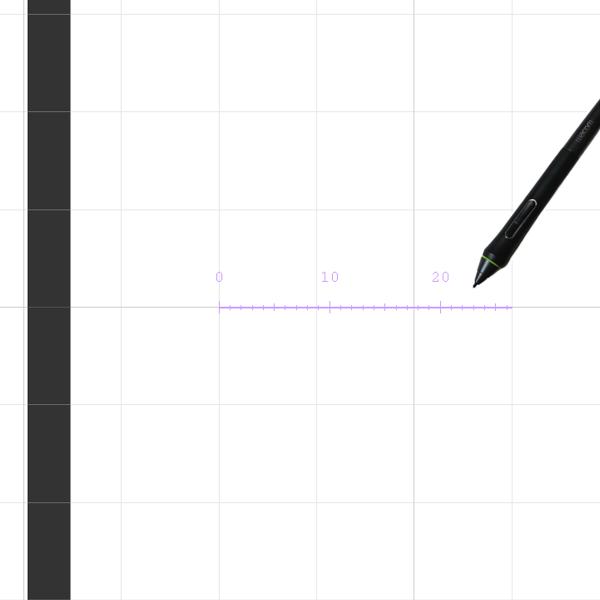 クリスタの直線定規をグリッドにスナップ