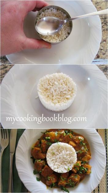 красиво сервиран Тас кебап с ориз