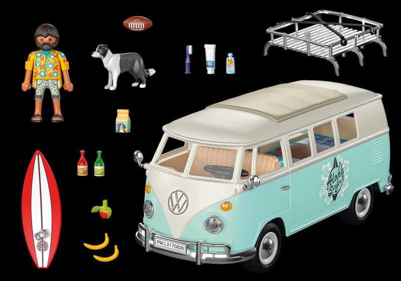 Contenido Real de Playmobil® 70826 Volkswagen T1 Camping Bus - Edición Especial
