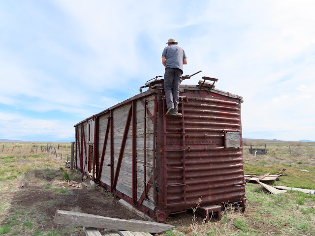 Chris on a boxcar