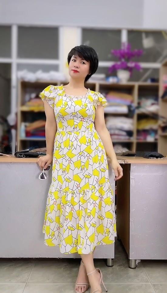 váy xòe midi đi biển mặc đẹp thời trang thủy hải phòng năm 2021