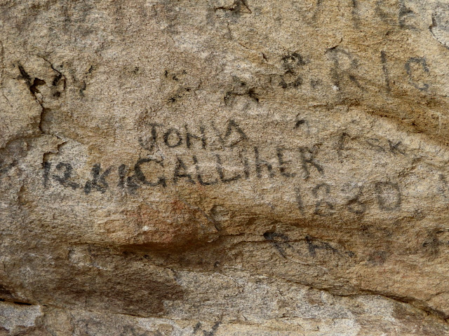 City of Rocks inscription:  John Galliher 1880
