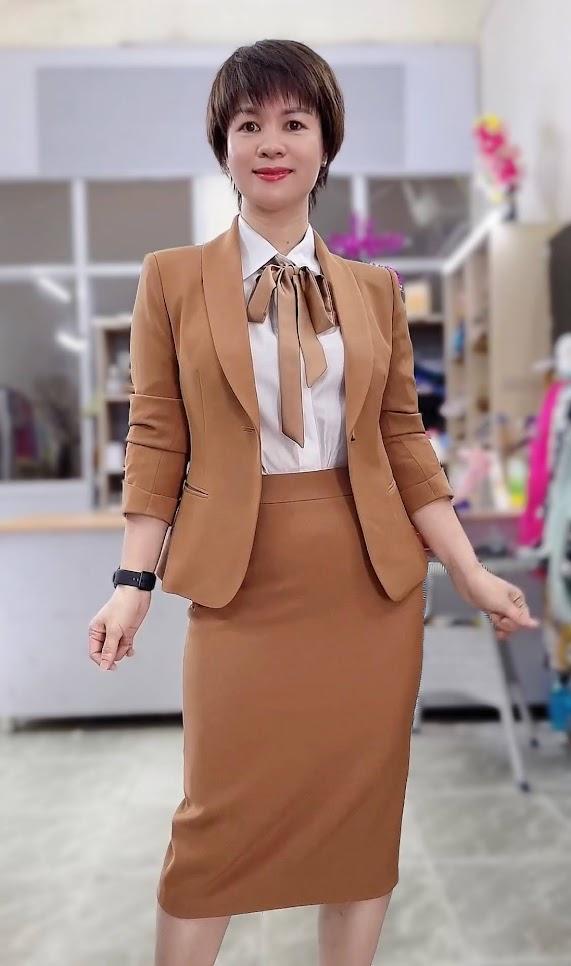 áo vest nữ đồng phục công sở bên bảo hiểm thời trang thủy sài gòn