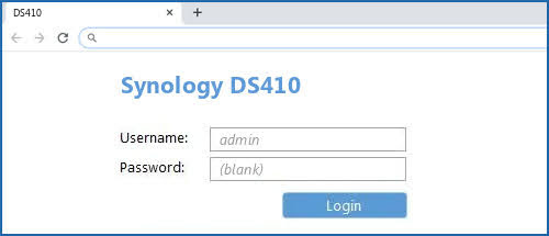 At the login page, enter the system's default username admin and leave the password field blank.