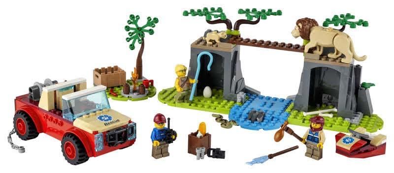 Contenido de LEGO® 60301 Rescate de la Fauna Salvaje: Todoterreno