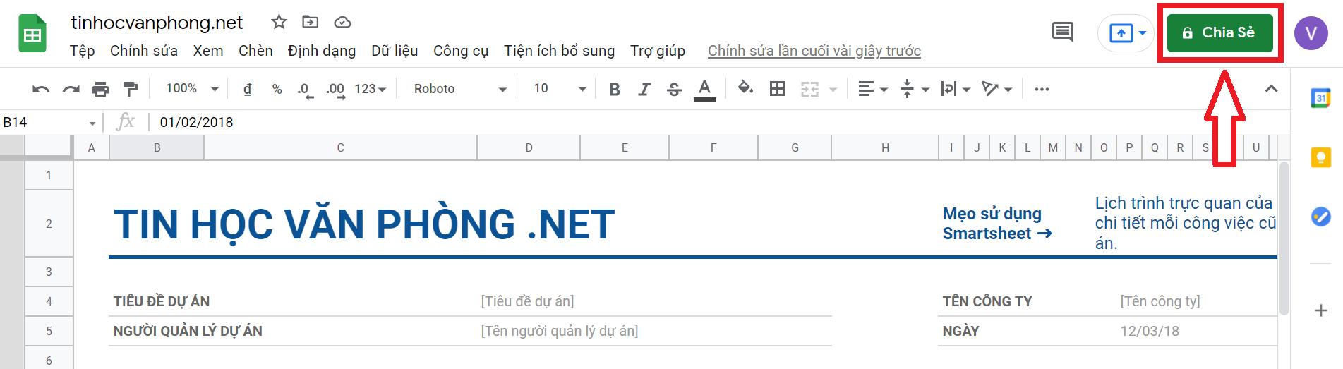 hướng dẫn chia sẻ google sheets