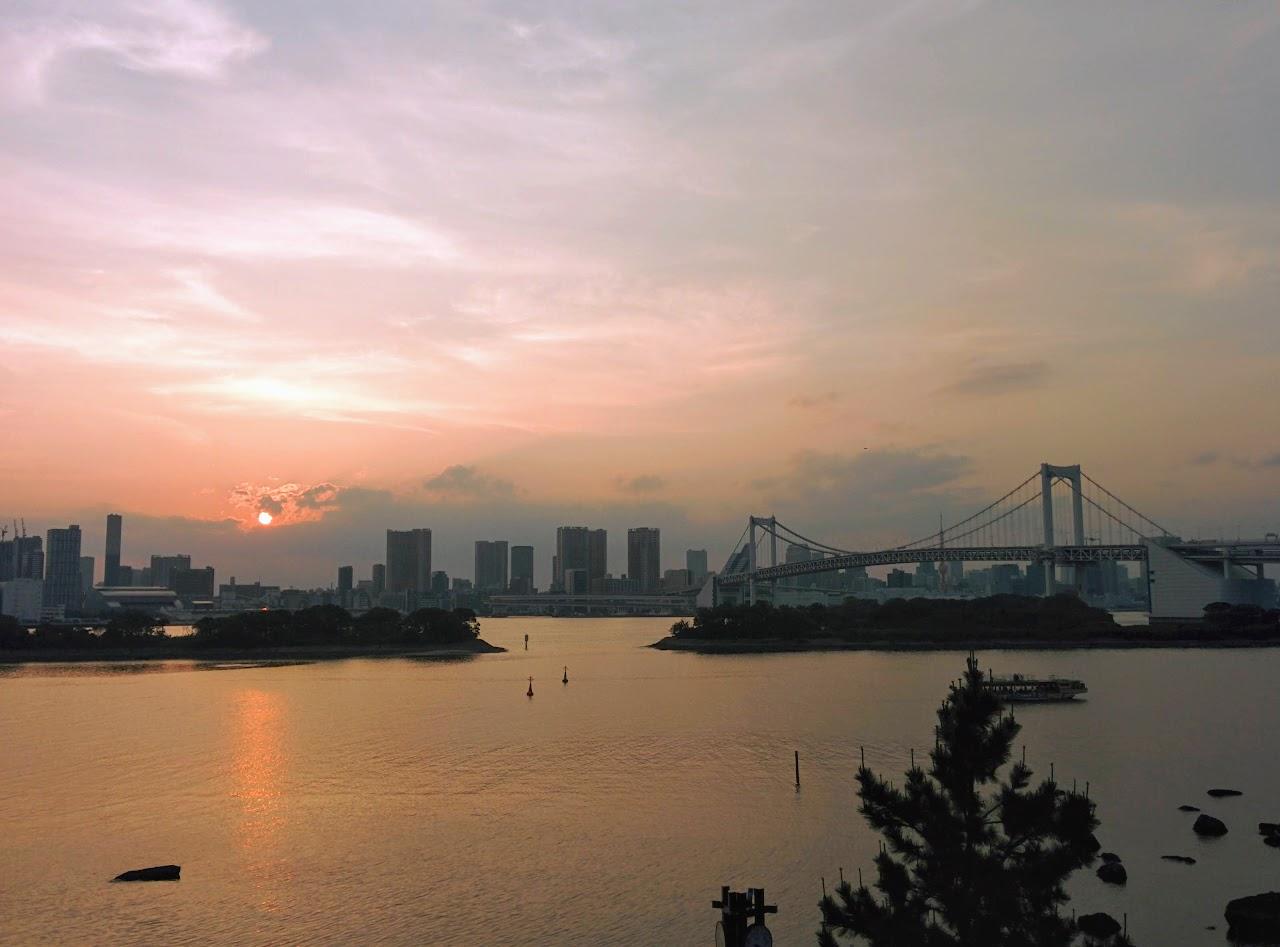 Qué ver en Tokio. Puesta de Sol desde Odaiba