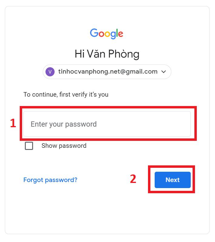 bật tắt xác minh 2 bước gmail