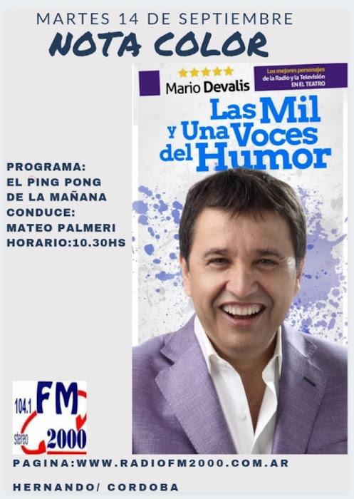 HOY: NOTA COLOR CON MARIO DEVALIS