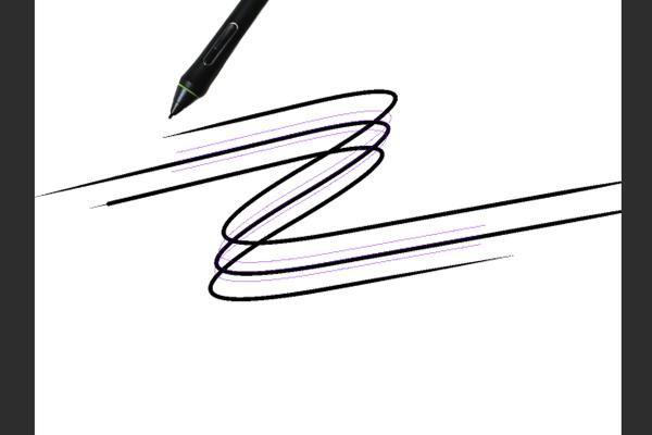 クリスタ特殊定規(多重曲線)を利用した描画