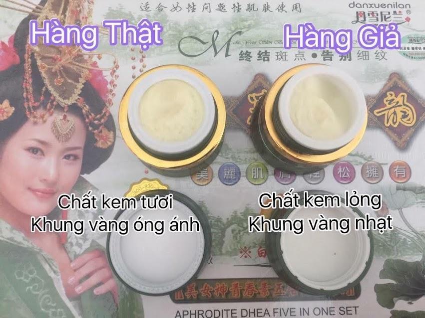 Cách phân biệt kem hoàng cung xanh thật giả