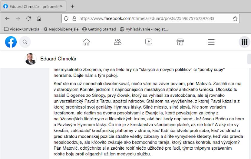 Citácia od Eduarda Chmelára