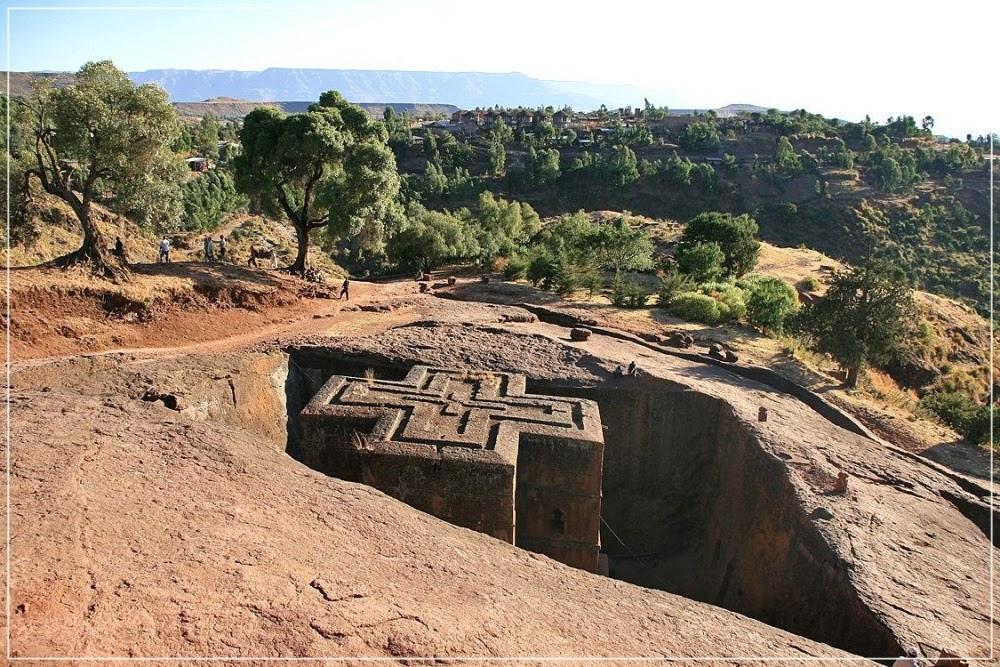 As igrejas de pedra de Lalibela, na África