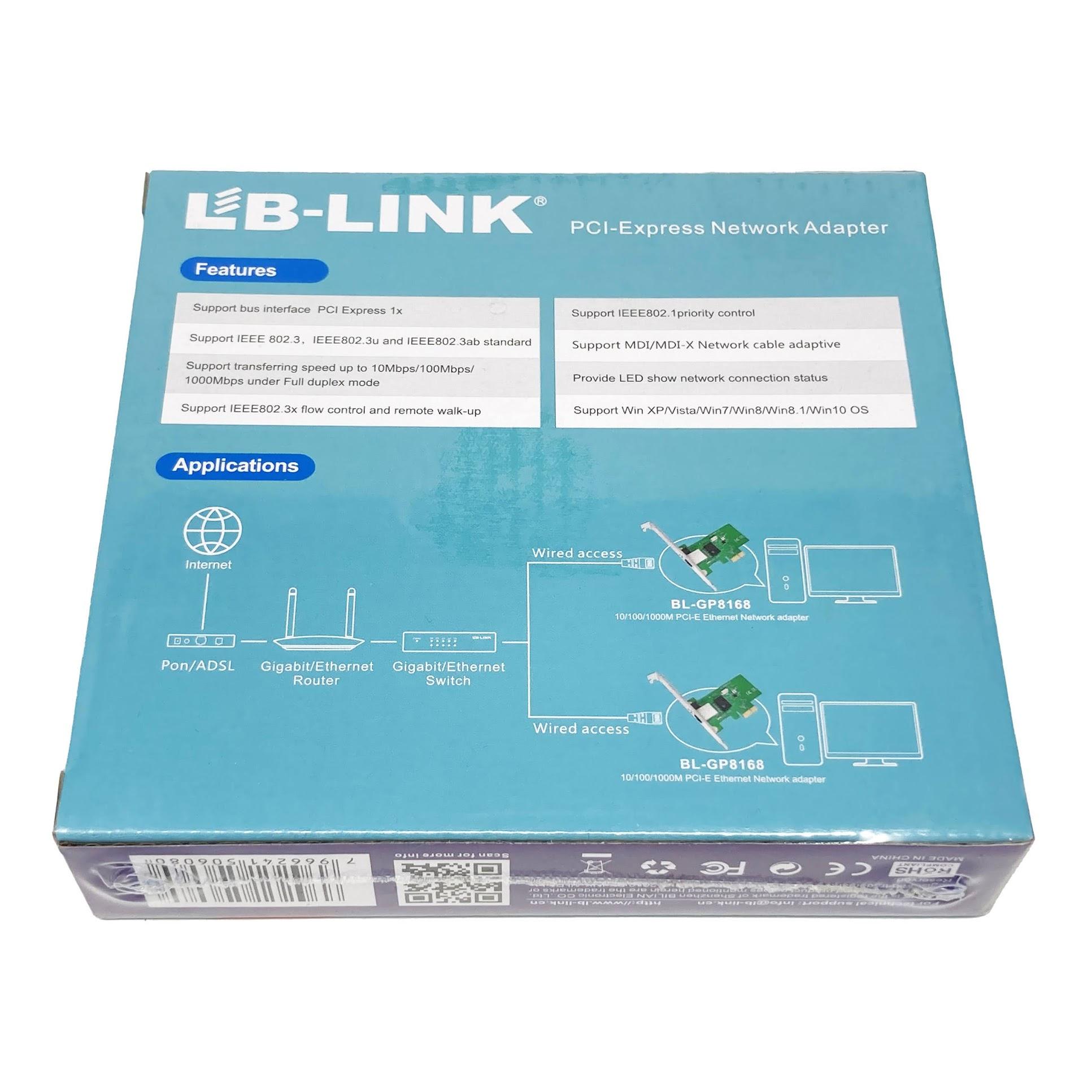 LB-Link BL-GP8168 Internal Ethernet box back