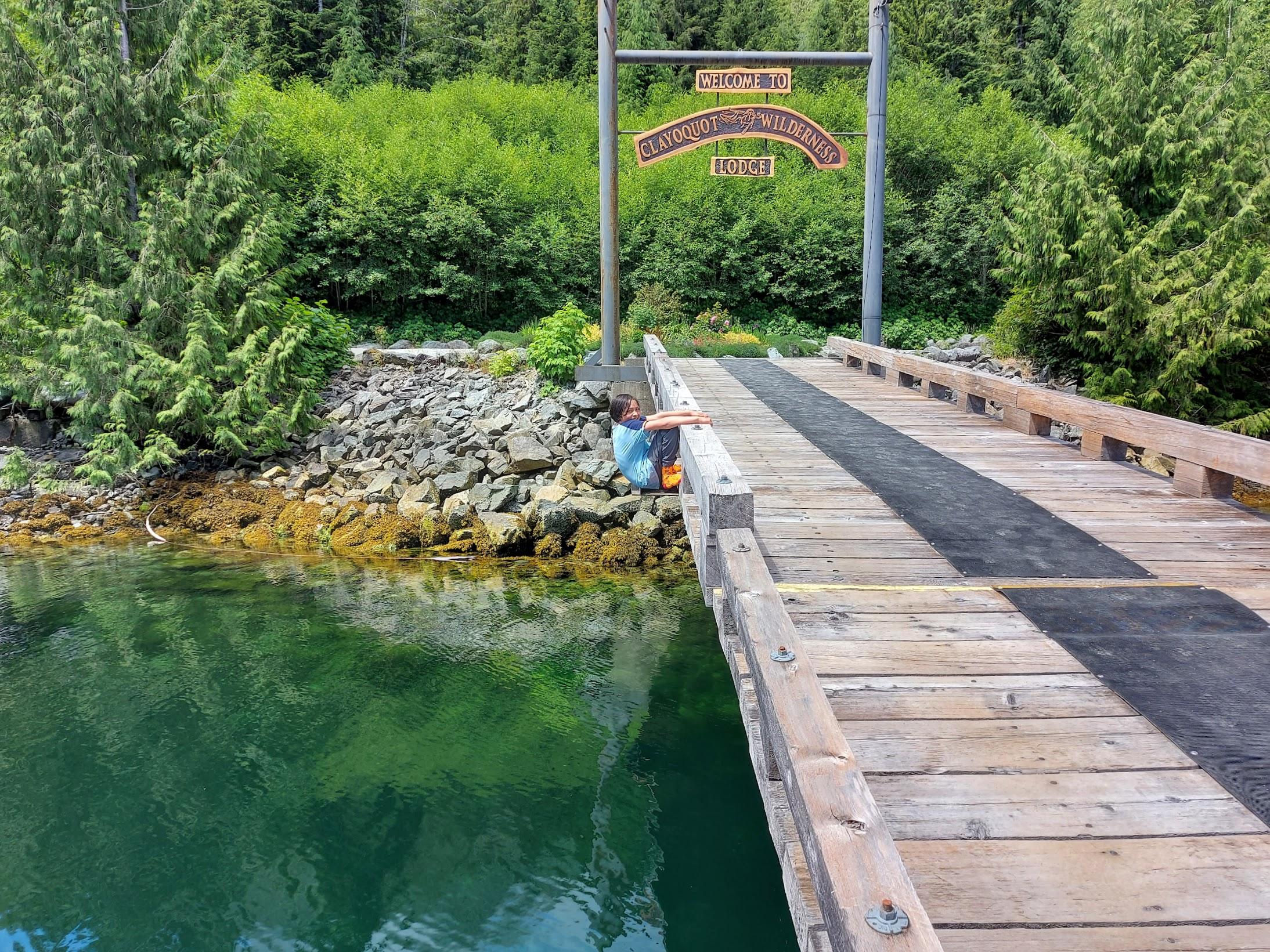 Hanging Off Dock Bridge