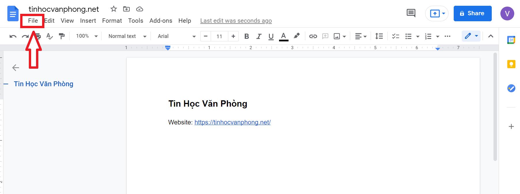 hướng dẫn cách tải file google doc