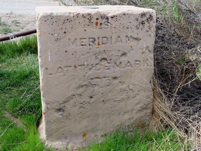 1887 Wheeler survey marker:  U.S. Meridian Latitude Mark