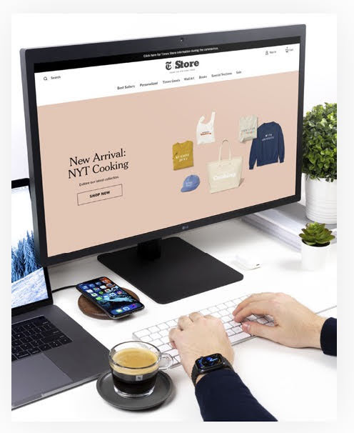Host an eCommerce Site. Source: NYT Store