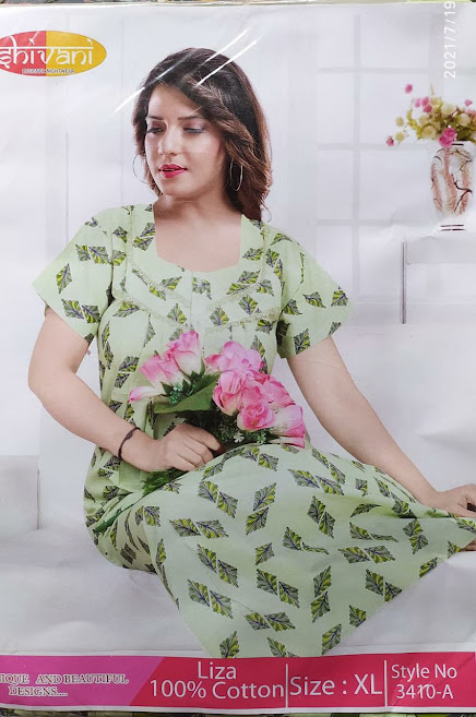 Ready At Store Liza 3410 Shivani Designer Nighty Manufacturer Wholesaler