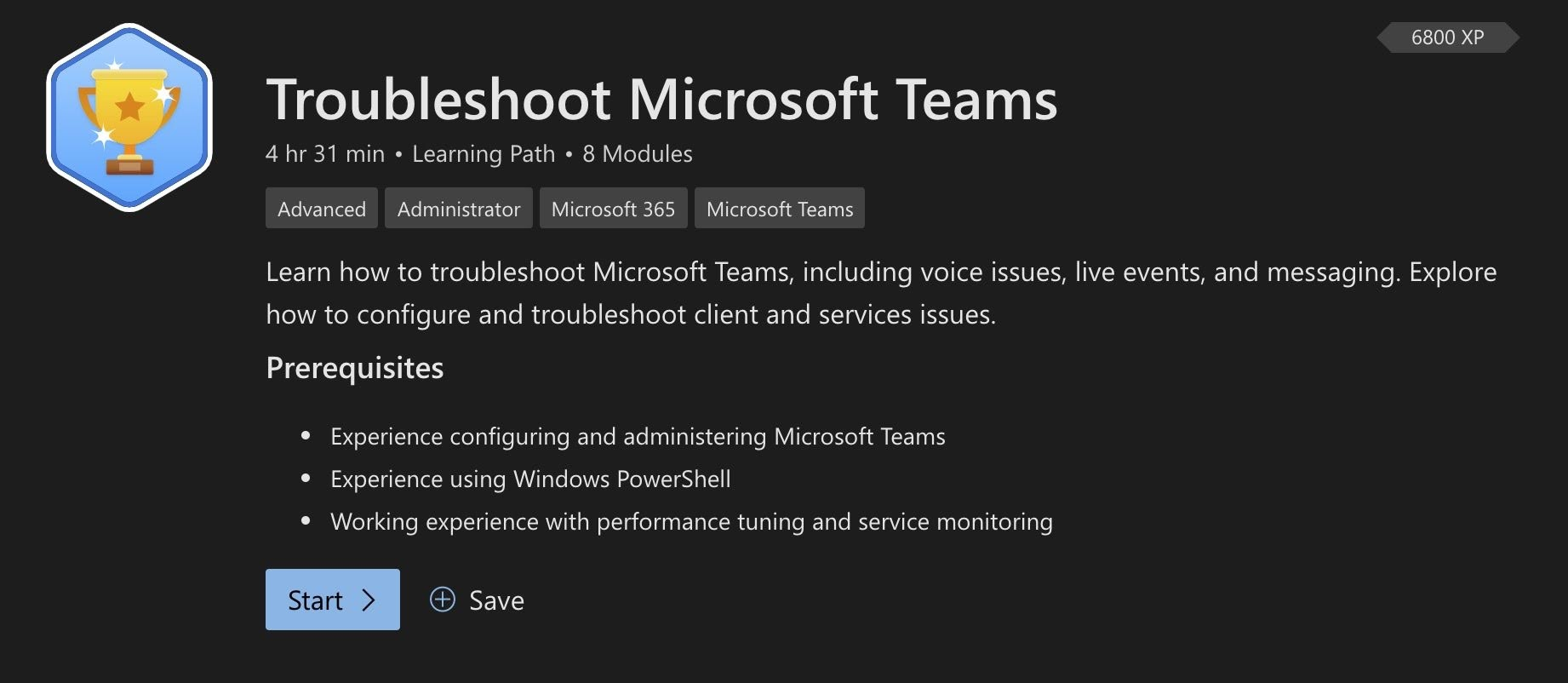 Troubleshoot Microsoft Teams Learning Path