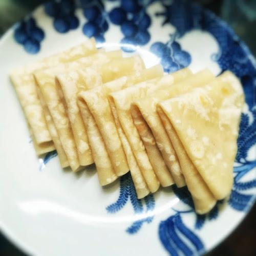 chinese,Mandarin Pancakes,flatbread,duck pancake,lotus pad,單餅,中式薄餅,荷葉餅,recipe,