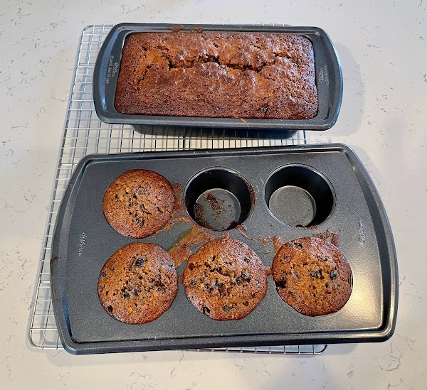 fruitcake loaf and muffins