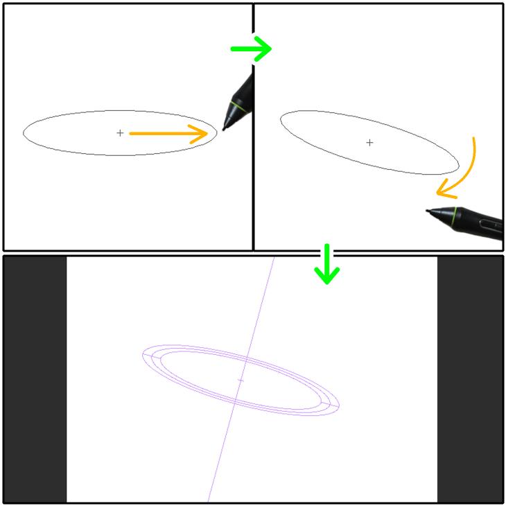 クリスタ特殊定規(同心円)の設置